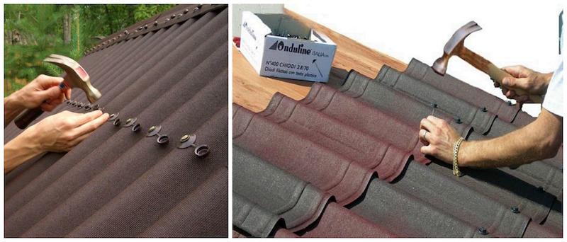 Монтаж и укладка крыши из ондулина