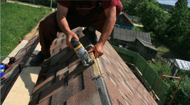 Монтаж крыши из мягкой кровли