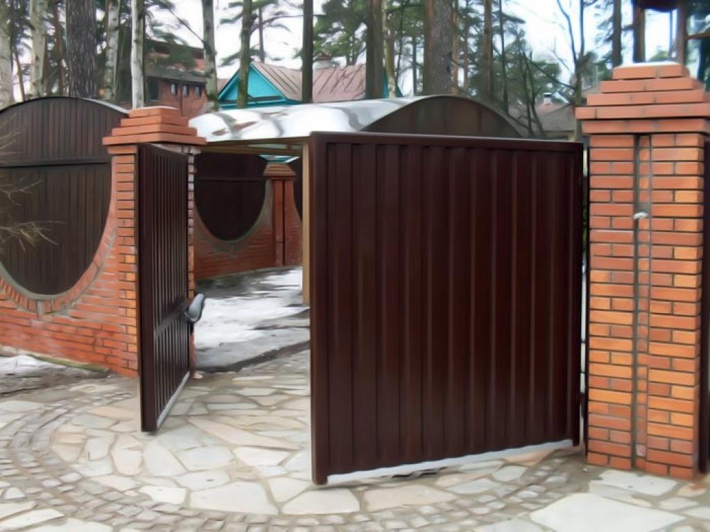 ворота распашные2